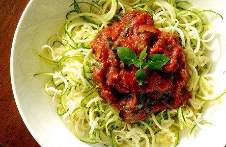 Courgette Spaghetti Bolognaise