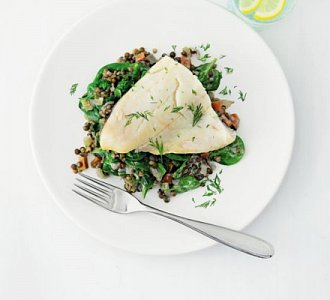 New You Smoked Haddock With Dill Lentils