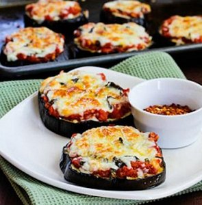 New You Boot Camp Aubergine Pizzas