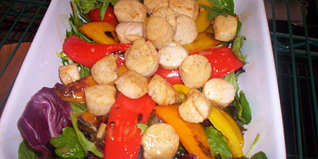 Warm Scallops and Fennel With Dressing