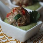 Meatballs with Creamy Coriander Dip