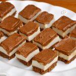 No Bake Caramel Slices