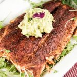 Grilled Salmon With Avocado Sauce