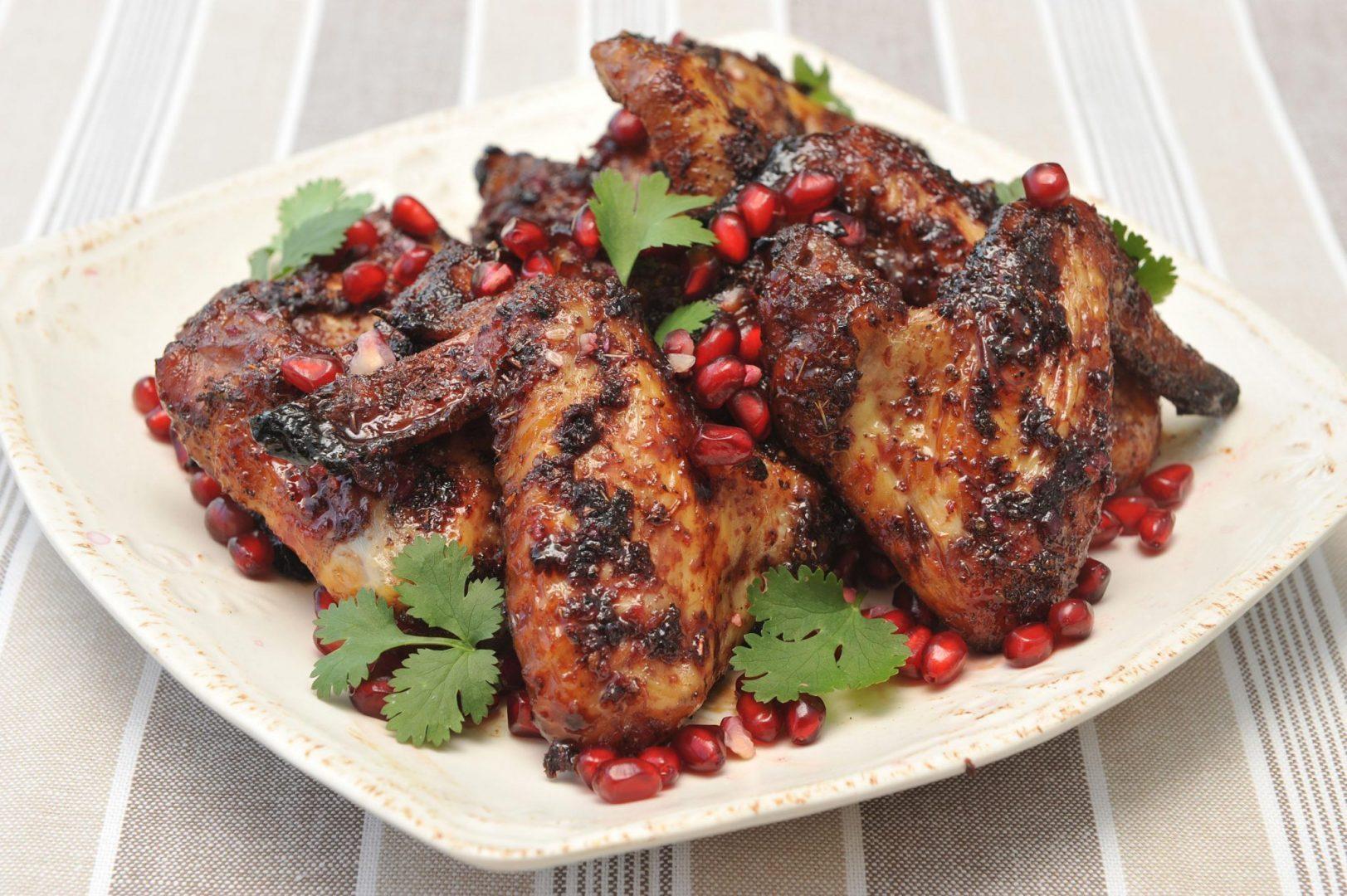 Pomegranate Sticky Wings