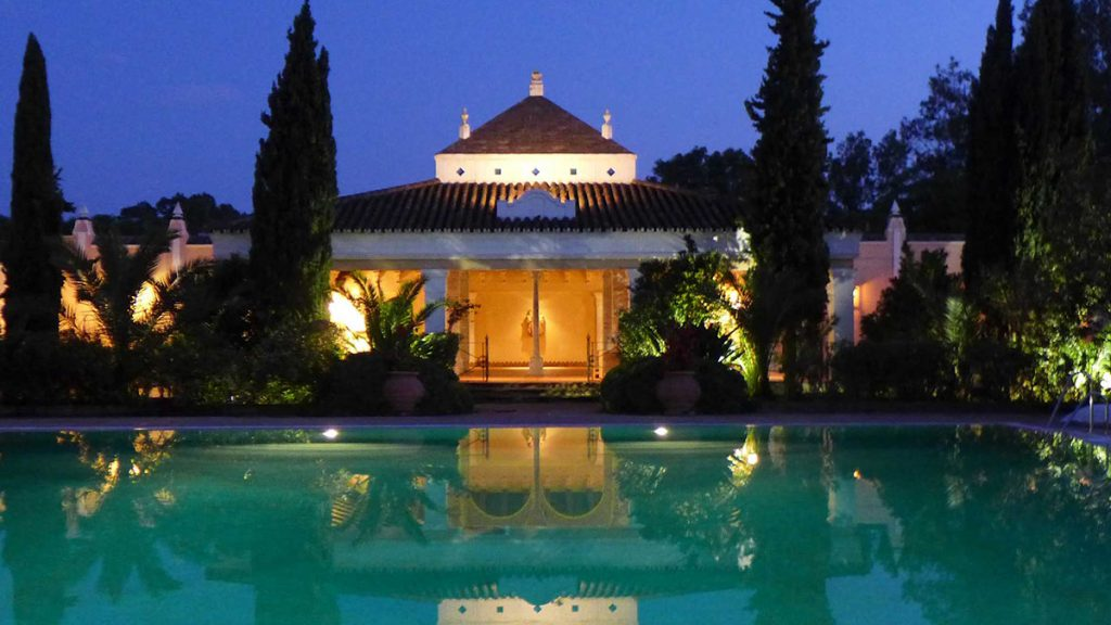 Spanish Monasterio Pool at Night
