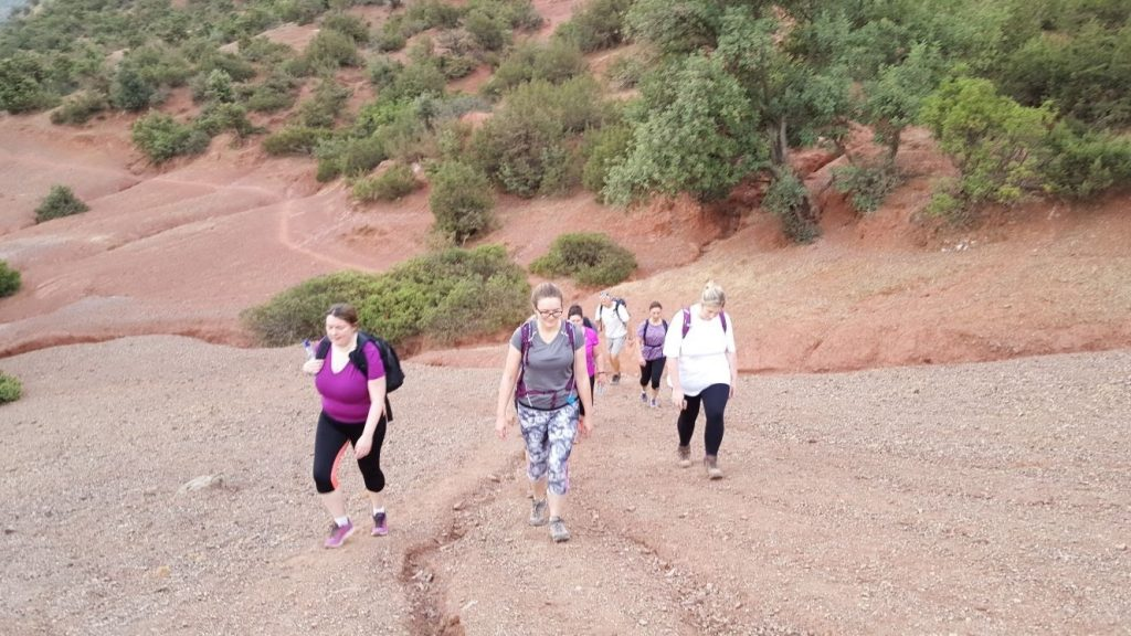 Group Hiking in the Atlas Mountains