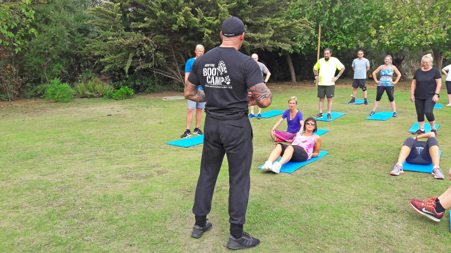 Instructor Leading Fitness Boot Camp